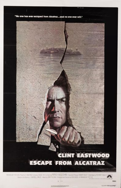 Clint Eastwood. Escape from Alcatraz. Un film de Don Siegel. 1979. Affiche offset.…
