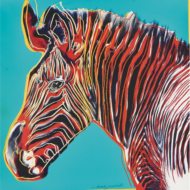 Andy Warhol (1928-1987, Amérique), Grevy's Zebra (from the Endangered Species series),…