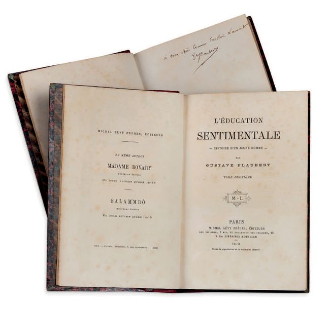 GUSTAVE FLAUBERT (1821 1880) L'Education sentimentale. P. Lévy 1870. 2 vol. In 8…