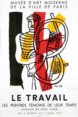 LEGER Fernand (1881-1995) LEGER Fernand (1881-1995)  Le travail  Lithography printed…