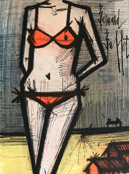 BUFFET Bernard (1928-1999) BERNARD BUFFET. Lithographs 1952-1966. New-York, Tudor…