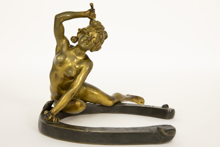 RÉCIPON GEORGES (1860 - 1920) RÉCIPON GEORGES (1860 - 1920) sculptuur in brons met…