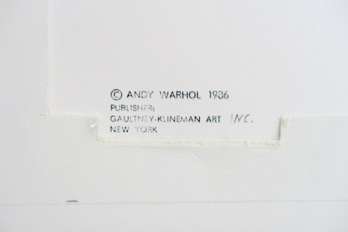 "WARHOL ANDY (1930 - 1987) WARHOL ANDY (1930 - 1987) zeldzame screenprint (""printer…"