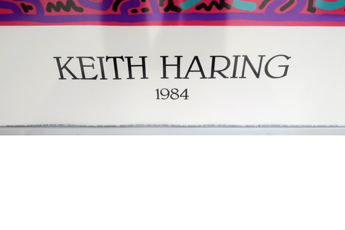 HARING KEITH (1958 - 1990) HARING KEITH (1958 - 1990) offset kleurlitho (affiche)…